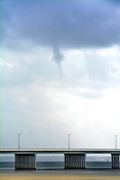 Funnel Cloud over Bay St Louis Bridge