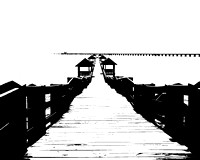 High Contrast Old Rutherford Pier