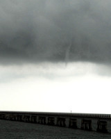 Funnel cloud over Bay St Louis Train Bridge